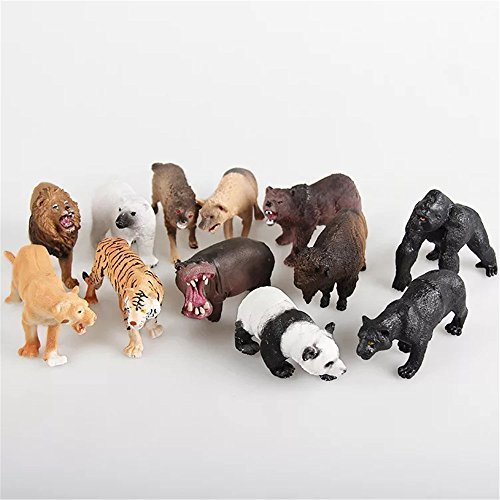 Gecter Mini Farm Animals Figure Toys Set,12Pcs Jumbo Farm Animals Toys Set,Realistic Wild Vinyl Pastic Animal Learning Party Favors Toys For Boys Girls Kids Toddlers Big Farm Animals Toys Playset