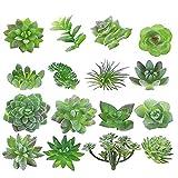 MAXZONE 16 unidades suculentas artificiales para crear plantas suculentas realistas y suculentas sin maceta, plantas suculentas falsas para decoración de jardín de loto, paisaje decorativo