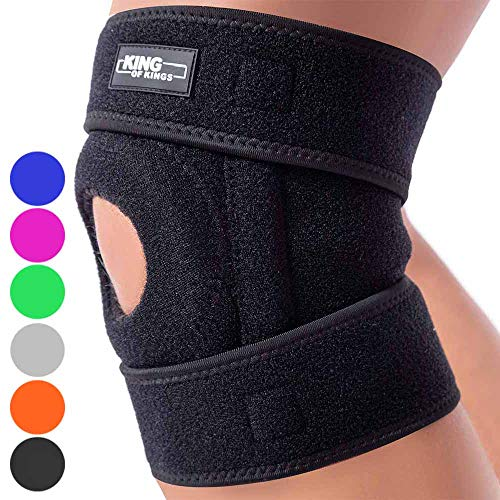 Patella Stabilizing Knee Brace for Women, Men, Meniscus Tear, Arthritis Pain and Support, Acl, Running, MCL, Tendonitis, Runners, Athletic, Stabilizer, LCL - Adjustable Neoprene Open Knee Sleeve ()