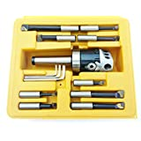 HHIP 1001-0105 3 Piece Boring Tool Set (2 Inch Head and MT3 and 1/2 Inch)