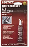 Loctite 37421 271 Red Heavy Duty Threadlocker, 6-milliliter Tube