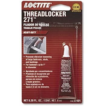 Loctite 37421 271 Red Heavy Duty Threadlocker, 6-milliliter Tube