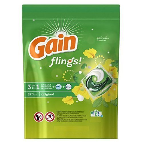 Gain Flings Original Laundry Detergent Pacs (40 Pods) by GAIN