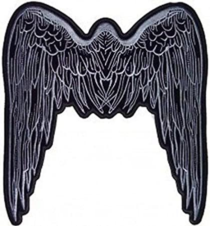 Amazoncom Angel Wings Grey Lady Quality Motorcycle Chick Biker