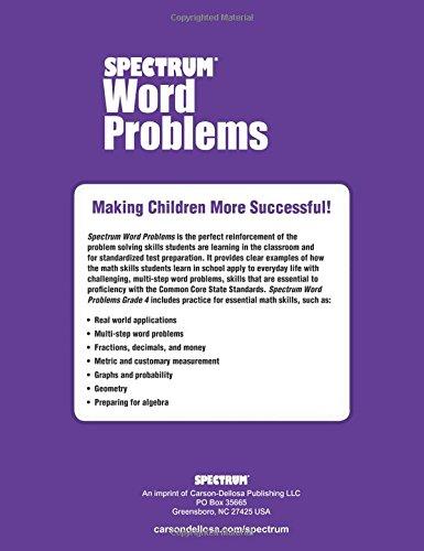 Word Problems, Grade 4 (Spectrum): Spectrum: 9781624427305: Amazon ...
