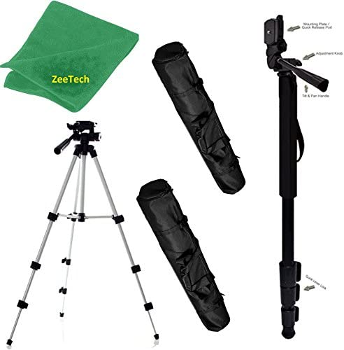 DMC-L10 Photo Video Travel Tripod DMC-GX7 Mark II DMC-L1 MonoPod DMC-GX85 DMC-GX80 Pro Aluminum Adjustable 50 Tripod /& 72 Monopod Panasonic Lumix DMC-GX7 DMC-GX8