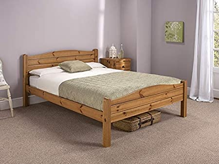 Snuggle Beds Elwood Antique 2ft6 Small Single Bed Frame Honey