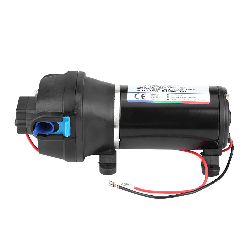 Water Pressure Diaphragm Pump 12V 4.5GPM 17 L//Min 40PSI Diaphragm Self Priming Water Pump with Automatic Pressure Switch for RV Caravan Marine Boat