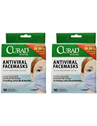 Acquisition 2 Pack of Curad® Antiviral Medical Face Mask, Pleated, 10/Box. Includes 2 Boxes/20 Total. occupation