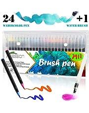 24 Rotuladores Acuarelables Punta Fina Suave Xpassion,24 Colores Únicos, Tinta Base Agua,0.4mm, Perfectos para Colorear Dibujar Manga Caligrafía o Trabajos que Requieran Preción