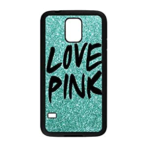 Unique DIY Design Cover Case with Hard Shell Protection for SamSung Galaxy S5 I9600 case with Love Pink lxa#216937