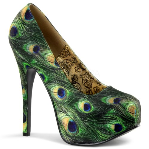 Bordello Plateau-Pumps Teeze-06-5 Peacock