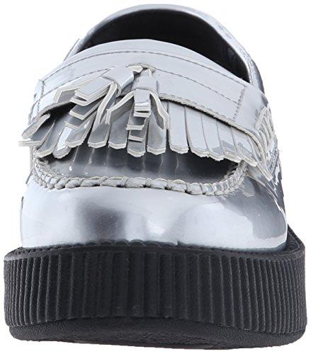Tassle Shoes Women's U K Patent T Silver Silver Loafer qPwgpCY7