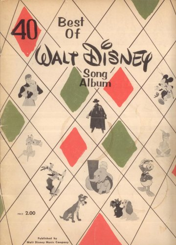 40 Best of Walt Disney's Song Album (Piano-Vocal Score with Chord Symbols and Ukelele Rubrics)