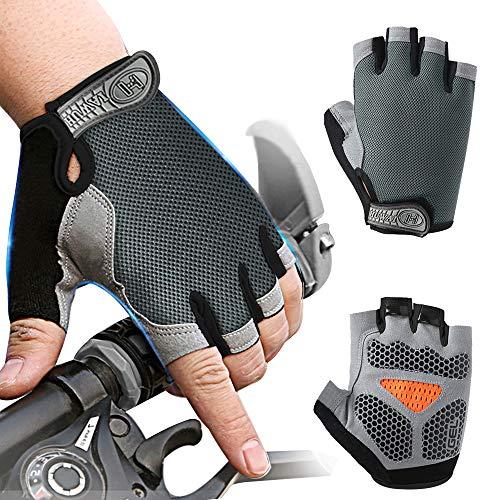 Inroserm Fietshandschoenen MTB Vingerloos voor Heren Dames, Mountainbike Handschoenen Antiship Schokabsorberende…