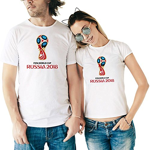 UniHappy World Cup T-Shirt Men/Women 2018 FIFA Russia Simple Printed Soccer Fans Tee