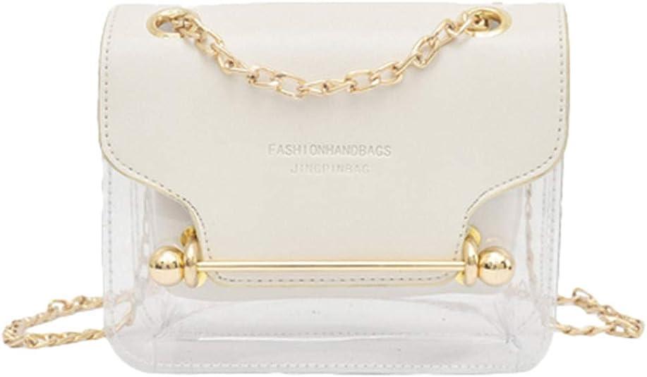 Portefeuille /à Main Sacs /à Main Femme 2019 PU Fashion Lady Sac Carr/é Transparent Sac /à Bandouli/ère Sac Messenger