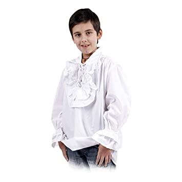 Camisa medieval infantil con volantes - traje, disfraz de ...