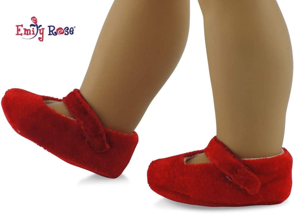 Black Patent Mary Jane Shoes with Pink Bow Fits 18 inch American Girl Dolls