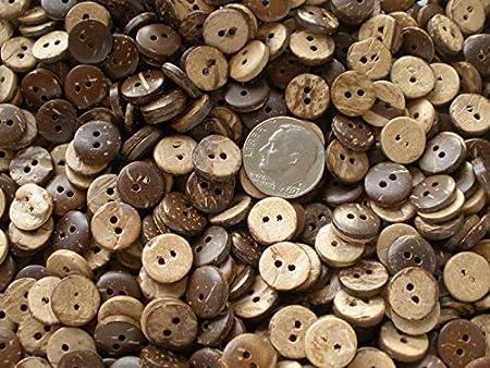 Little 10MM Coconut Shell Shirt Buttons 36 Each 16L 3/8