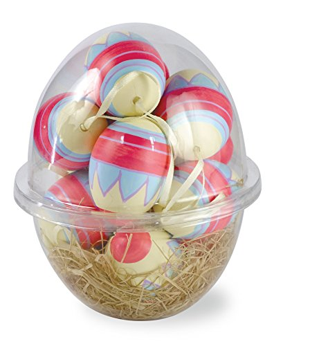 Boston International EGC16007 Cosmic Spring Decorated Faux Eggs (Set of 12) (Cosmic Color Ribbon)