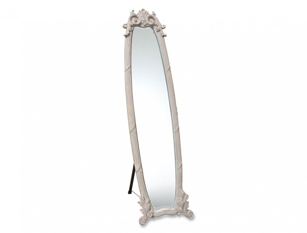 MADAMECOCO Kensington Standing Floor Mirror - *Its oval design and pastel color make your living area look more elegant. *With Kensington Upright Mirror, you can check your whole body and do your make up easily! *You can use it in your bedroom, living room, dining room or else. - mirrors-bedroom-decor, bedroom-decor, bedroom - 5198tarJmkL -
