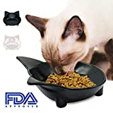 RYPET Cat Bowl (Set of 2) - Shallow Cat Food Bowls, Wide Cat Dish Non Slip Cat Feeding Bowls, Cat Food Bowl for Relief of Whisker Fatigue Pet Food & Water Bowls