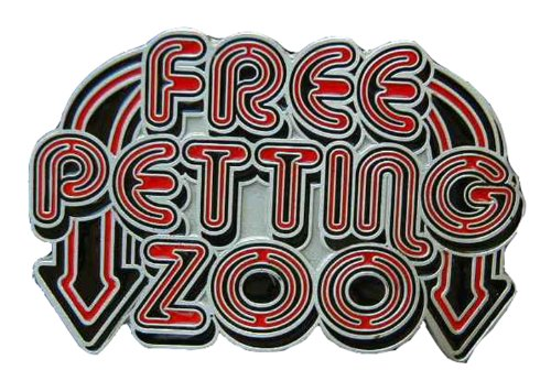 Free Petting Zoo Colored Novelty Belt Buckle ()