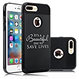 For Apple (iPhone 8 Plus) Shockproof Impact Hard Soft Case Cover It's A
