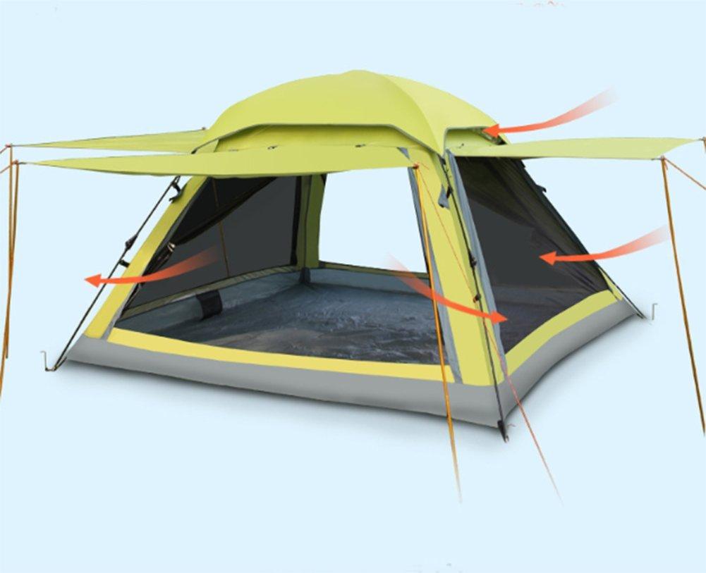 OOBY Camping Zelt 3-4 Person Automatische Instant Pop Up Wasserdichte Camping Wandern Zelte Für Familiengruppen,Grün