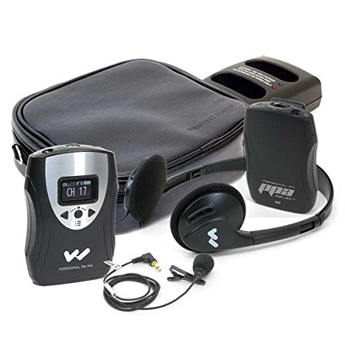 Williams Sound PFM PRO RCH Personal FM System, 72 - 76 Mhz. Includes: 1 PPA T46 transmitter, 1 PPA R37N receiver, 1 MIC 090, 1 EAR 041, 1 HED 021, 2 CLP 023, 1 CCS 043 system carry case, 2 BAT 026-2 rechargeable batteries, 1 CHG 3502 charger by Williams Sound