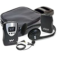 Williams Sound PFM PRO RCH Personal FM System, 72 - 76 Mhz. Includes: 1 PPA T46 transmitter, 1 PPA R37N receiver, 1 MIC 090, 1 EAR 041, 1 HED 021, 2 CLP 023, 1 CCS 043 system carry case, 2 BAT 026-2 rechargeable batteries, 1 CHG 3502 charger