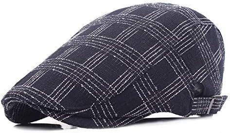 ハンチング 帽子 快適な冬の暖かいニットツイードキャスケットギャツビーアイビーキャップゴルフタクシー運転手の運転ハット (Color : Navy)