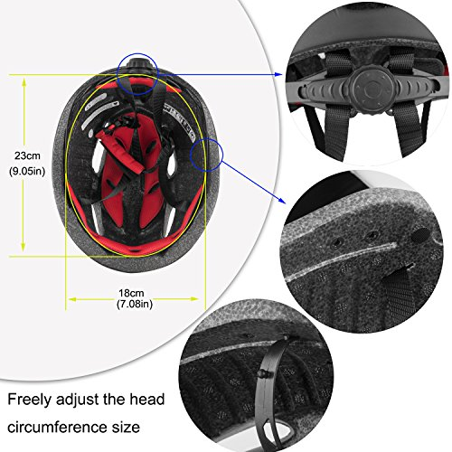 Basecamp Bike Helmet CPSC Certified with Detachable Magnetic Goggles Visor Shield Adjustable Men Women Road & Mountain Biking Bicycle Helmet Safety Protection