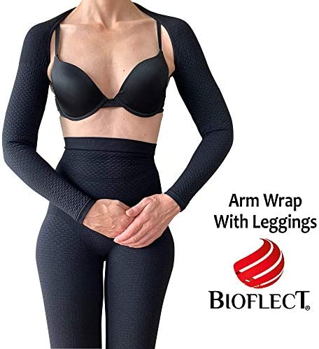 BIOFLECT® Compression Capri Leggings with Far Infrared Therapy and Micro-Massage Knit - Slimming Support and Comfort - Lipedema, Lymphedema, Inflammation - Black 4XL 5