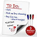 Smart Planner Magnetic Dry Erase WhiteBoard with 3 Markers