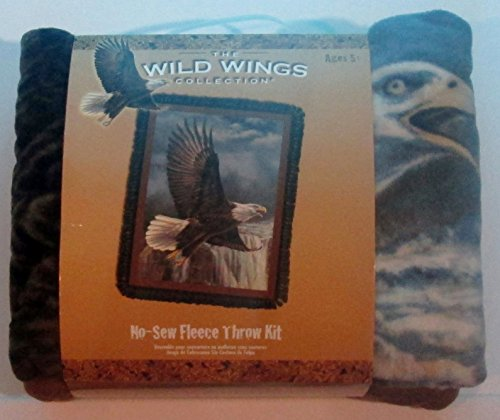 No Sew Fleece Throw Kit - Wild Wings Collection - Wings of Glory - Eagles by Wild Wings