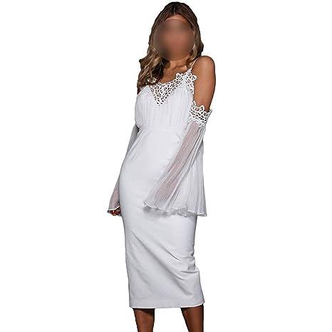 ZSRHH-Falda Vestido de Mujer Vestido de Mujer Hombro frío Vestido ...