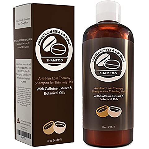 Hair Loss Shampoo with Arabica Coffee House Caffeine Extract - Daily Volumizing Anti Hair Loss Treatment - Argan + Coconut Oil Hair Growth Therapy - Prevent Hair Loss + Thinning - Natural Hair Care