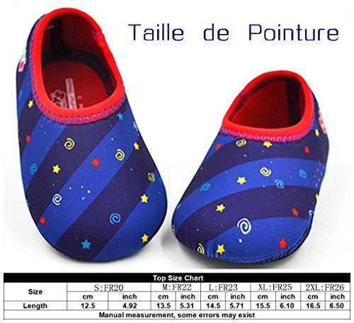 Baby 's Choice– Zapatos de Bebé Tejido Elástico Lycra Zapatillas para Niños, 0-3años, Zapatillas Antideslizantes Flexibles para Interior y Exterior azul oscuro
