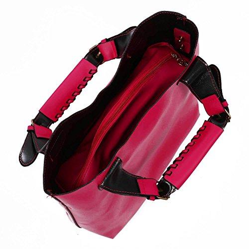 TOOGOO(R) Borsa del sacchetto di acquisto della borsa di Tote delle nuove borse dellannata blu rosa caldo