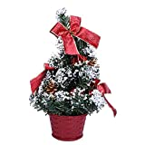 Tuscom Mini Christmas Tree,Reliable and Non-Toxic 25cm Lengt,for Door Mantel or Wall Party Home Decoration (Red)