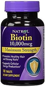 Natrol Biotin Maximum Strength Tablets, 10,000mcg , 100 Count