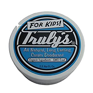 Truly's – All Natural, Long Lasting Organic Cream Deodorant for Kids – 2.5 oz