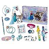 Craze - 52083 - Calendrier de L'avent Bijoux Figurines - Porte - Clés - La Reine des Neiges - Disney Bleu