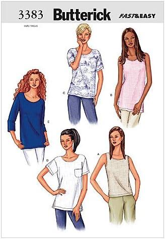 L-XL Size LRG Butterick Patterns B3383 Misses//Misses Petite Top