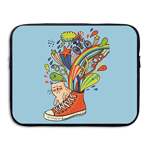 Reteone Laptop Sleeve Bag Artistic Canvas Shoes Cat Cover Computer Liner Package Protective Case Waterproof Computer Portable Bags]()