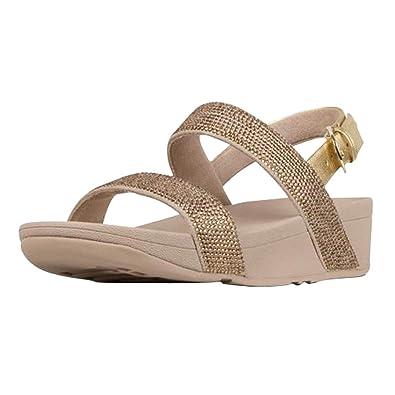 81b8a8938e4 FitFlop Women s Lottie Shimmercrystal Back-Strap Sandals (5 M US