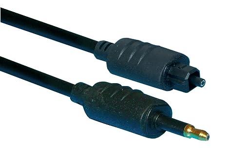 Noir Fibre OPTIQUE Câble Audio TOSlink Prise vers optique Jack 3,5 Mm Bricolage