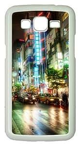 Samsung Galaxy Grand 2 Case - City Streets PC Hard Case Cover For Samsung Galaxy Grand 2 / Samsung Galaxy 7106 - White